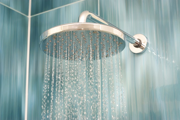 shower head running water